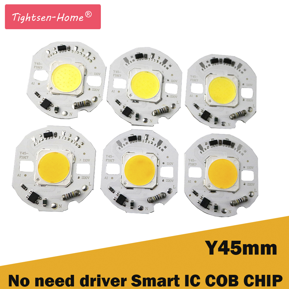 45MM round LED COB Chip Light 10W 12W 15W AC 220V No need driver Smart IC bulb lamp For DIY Warm White LED Floodlight Spotlight cob chip bulb lamp source led light no need driver with smart ic 5w 7w 3w 9w ac 220v 110v white diy led floodlight spotlight jq