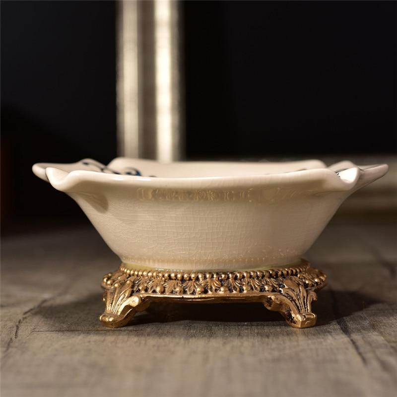 New Pattern! Palace Ceramic Crafts High-end Ice Crack Retro Papilio protenor pattern Creative Cigar Ashtray Ornaments