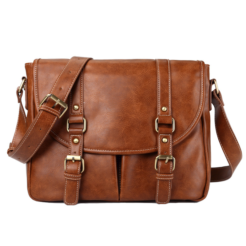 High Quality Leather Men Bags Shoulder Crossbody Bags Mans Casual Business Men's Messenger Bag Handbag Bolsas Male Promotion