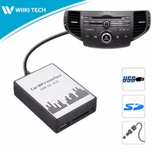 APPS2Car Car Radio USB SD AUX Interface Digital Music Changer Mp3 Adapter for Acura TSX 2004-2011 fits selected OEM Radios