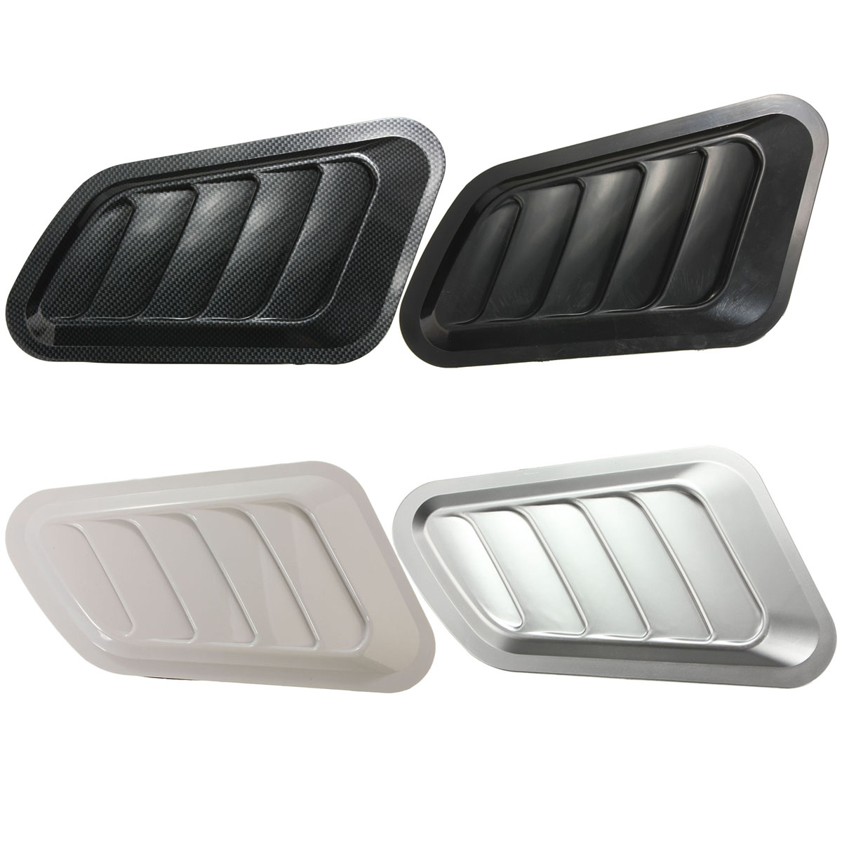 Good Price New 2x Four Colors Car Decorative Intake Scoop Turbo Bonnet Vent Cover Hood for Fender new 2x car decorative air flow intake scoop turbo bonnet vent cover hood for fender