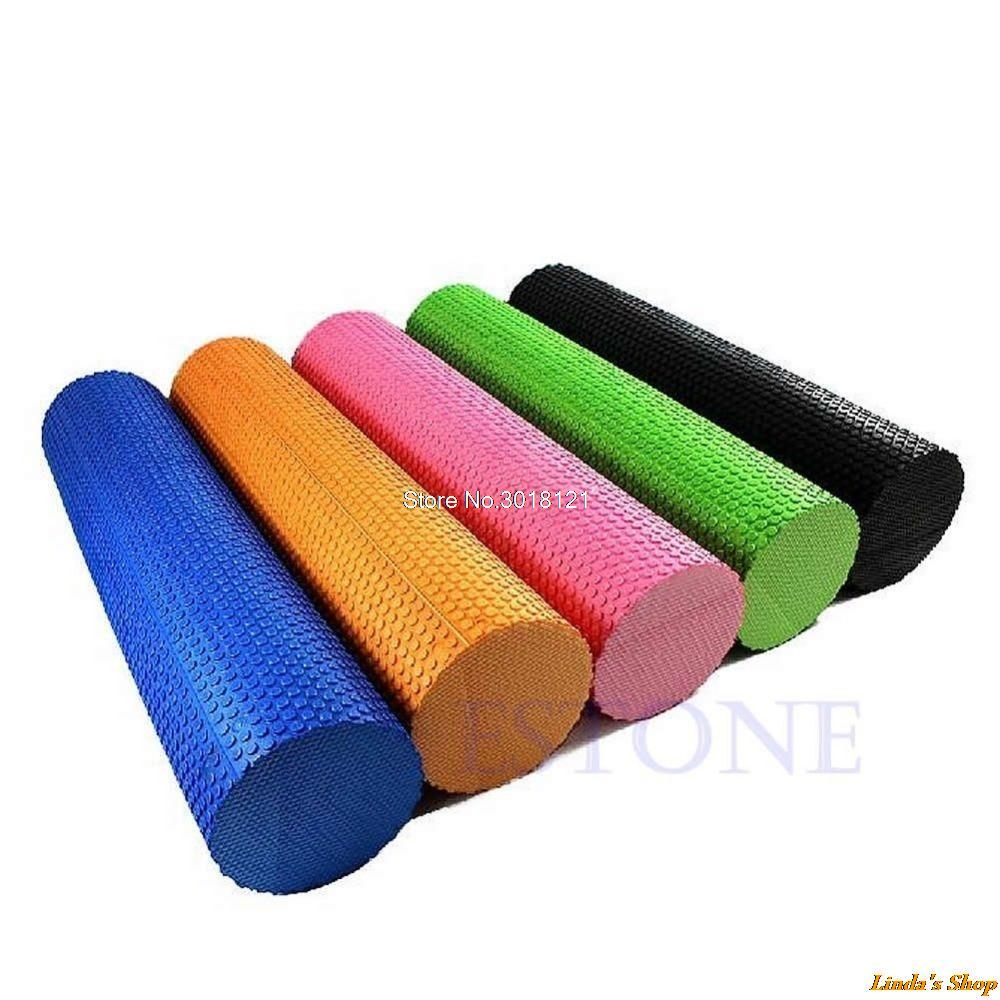 Hot Sale EVA Foam Roller Yoga Pilates Exercise Back Home Gym Massage 45x15cm