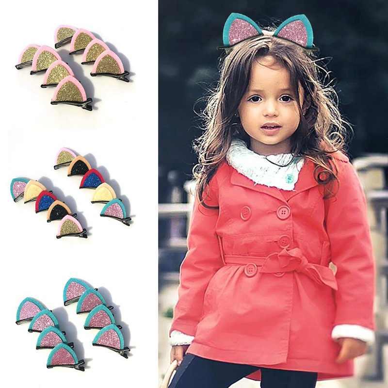 2 PCS สาวผมคลิปหูแมวน่ารัก Hairpin น่ารัก Headwear อุปกรณ์เสริมผมเด็ก