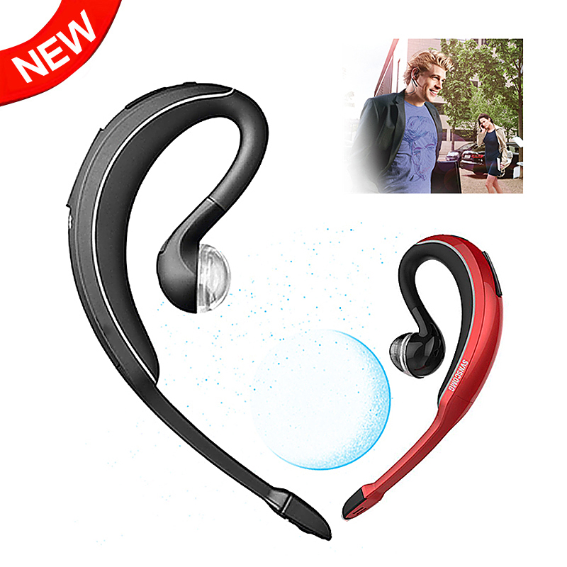 Fashion Wave Ear Hook Wireless Stereo Music Bluetooth Earphone Sports Handsfree Headphones Media Player & Phone Call Headset - Oumiba Technology Co., Ltd. store
