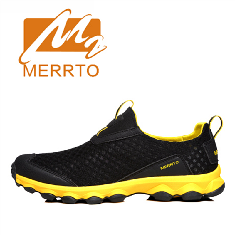 2018 Merrto Lovers Walking Shoes Lightweight Outdoor Shoes Breathable Mesh Sports Shoes For Lovers Free Shipping MT18360/MT18359