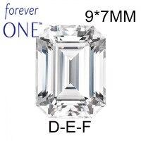 Прошедший Алмазный тестер сертифицированный два карата 2Ct Изумрудное кольцо VS D E F цвет Charles Colvard Forever One Муассанит без Огранки Драгоценные Ка