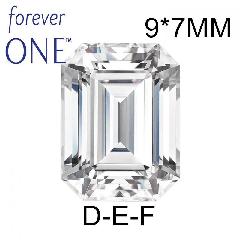 Past Diamond Tester Certified Two Carat 2Ct Emerald Cut VS D E F Color Charles Colvard Forever One Moissanite Loose Gems Stones цена
