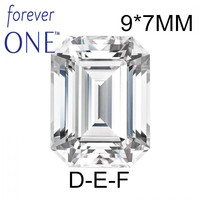 Past Diamond Tester Certified Two Carat 2Ct Emerald Cut VS D E F Color Charles Colvard Forever One Moissanite Loose Gems Stones