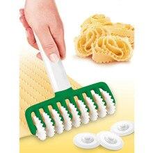 Паста производитель резак спагетти машина зубчатые зубы лапши резак портативный пластик ходовое колесо ролик для пасты