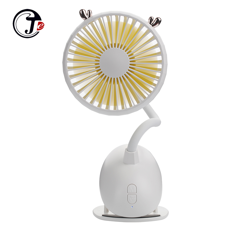 2019 New Portable Mini Clip Fan Table Desk USB Fans  with 2000 mAh Battery 360 Degree Quiet Third Gear Speed Cooling