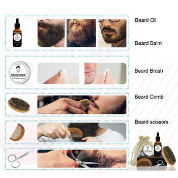 SPEQUIX Men's Beard Grooming Kit Included Massage Beard Oil, Mustache Balm,Beard Brush,Comb  Sharp Scissors 5PCS/Set 2