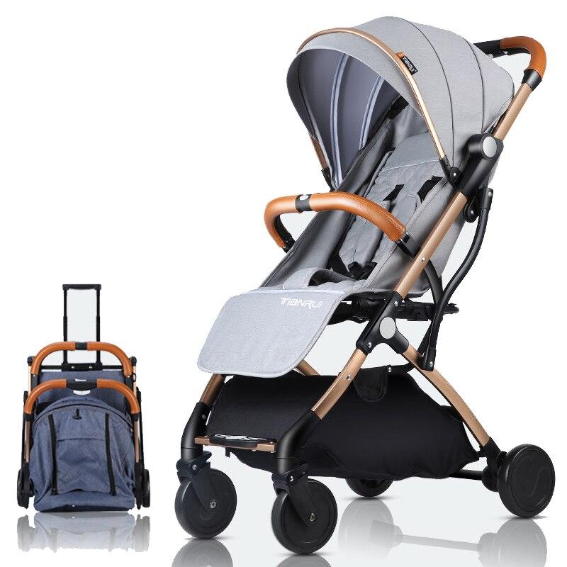 Landau poussette léger Portable voyageant poussette bébé poussette Peut être sur le plan