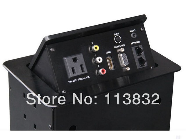 Conference Table Interconnect Box Solutions Flush Mount Power Data - Conference table data boxes