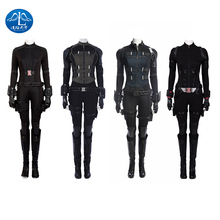 Black Widow Vengers Infinity War Costume Natasha Romanoff Cosplay Carnaval Halloween Costumes for Women Full Set