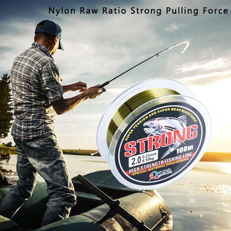 100 メートルフルオロカーボン釣り糸リーダーワイヤー釣りコードアクセサリー Flurocarbone 冬ロープフライフィッシングライン