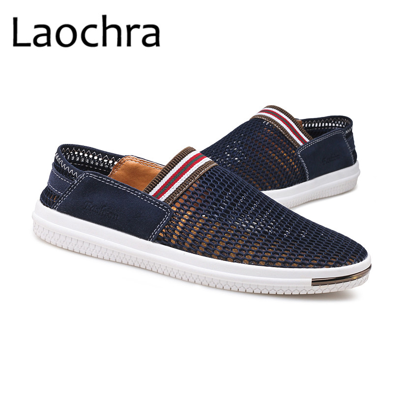 LAOCHRA Men Breathable Mesh Fashion Shoes Mens Cool Summer Moccasins - Men's Shoes - Photo 3
