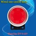 Frete grátis 1 peças/lote 9-12 V 120dB Novo 100-120 dB Mini Sirene com fio Para O nosso Alarme da Segurança Home Sem Fio gsm pstn sistema
