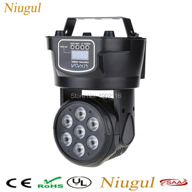 Niugul DHL/Fedex Free shipping LED moving head light/LED 7x12w mini moving wash light/professional DMX512 stage effect lighting