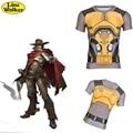 \ Line Walker \ moda T-shirt OW cosplay Jesse Mccree Assistir Ao Longo Dos Homens roupas bem aderentes Camiseta gymshark camisa Compressão