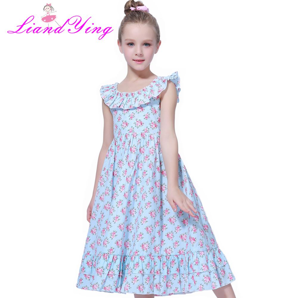 Kids Girls Embroidered Flower Formal Party Ball Gown Prom Princess Bridesmaid Wedding Children First Communion Tutu Dress цены онлайн