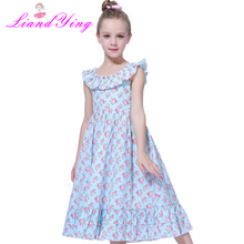 Kids Girls Embroidered Flower Formal Party Ball Gown Prom Princess Bridesmaid Wedding Children First Communion Tutu Dress
