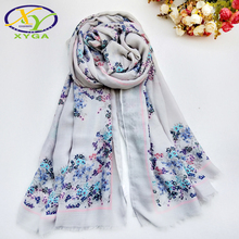 1PC New Cotton Women Long Scarf Fashion Flower Printed Hijab Pashimina Soft Thin Autumn Summer Viscose Quality Scarf Wholesale