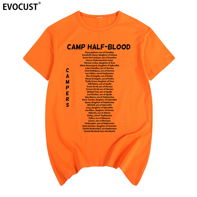Camp Half Blood Campers Percy Jackson Funny Long Island Sound Summer T-shirt Cotton Men T Shirt New Women TEE Fashion Casual