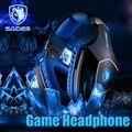 Sades A60 Gaming Наушники 7.1 USB Стерео Объемный Звук Fone Де Ouvido Игры Наушники LED Наушники с Микрофоном для PC Gamer Шлем
