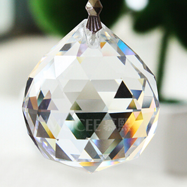 Aliexpress buy 10pcslot 50mm k9 crystal chandelier parts 10pcslot 50mm k9 crystal chandelier parts fengshui ball glass faceted ball for chandelier mozeypictures Image collections