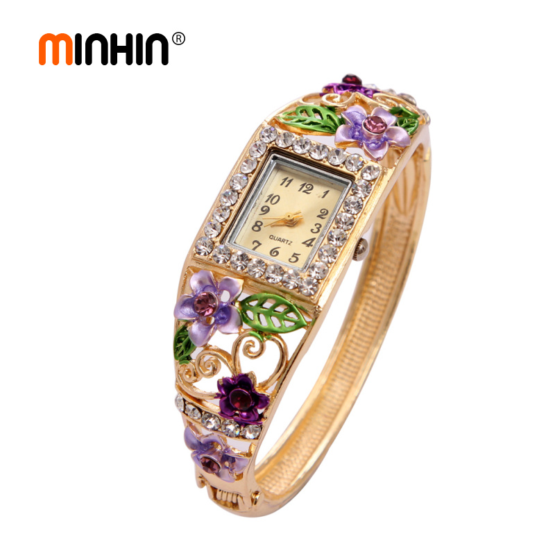 MINHIN Multi Colors Bangle Watches Luxur