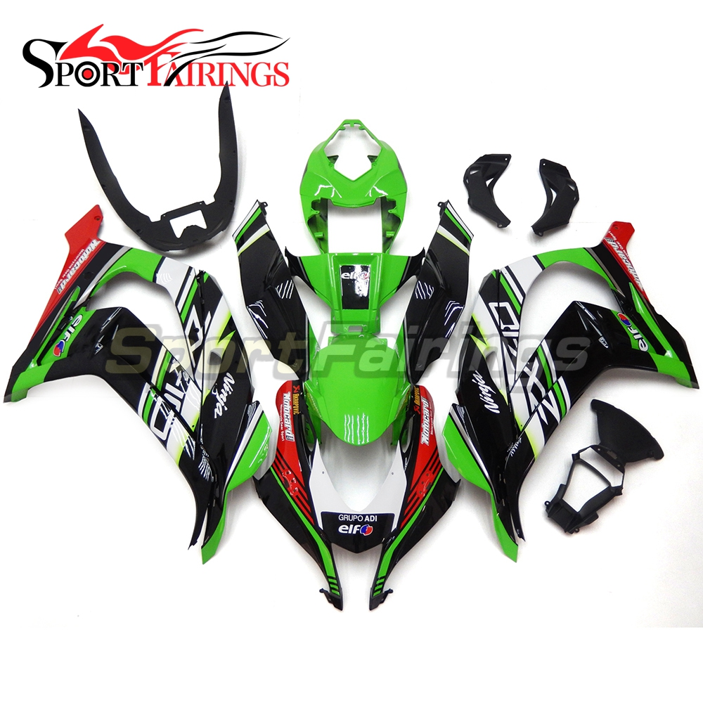 Motorcycle ABS Plastic Injection Fairings For Kawasaki ZX10R 2016 Fairing Kits ZX-10R 16 Year 2016 Bodyworks Green Black Red New motorcycle unpainted abs fairing kit for kawasaki zx 10r zx10r 2011 2012 11 12 fairings kits front nose bodywork pieces