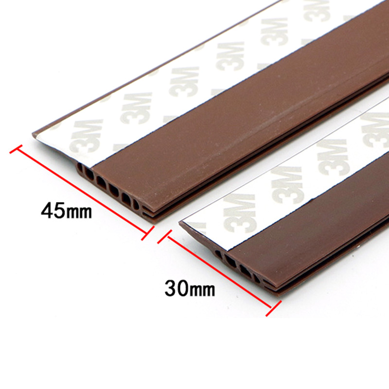 1 Pcs Self Adhesive Silicone Bottom Door Bar Window Tape Rubber Sealing Strip Windproof Dustproof Sound Insulation Seams Strips