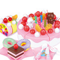 39/63PCS Baby Kids Funny Educational  Kitchen Toy Birthday Cake Developmental Toy Gifts Pretend Play Toys