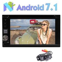 Rearview Camera+Android 7.1 Car DVD Player Octa-core Stereo GPS Navigation Bluetooth Radio Multi-OS USB SD FM RAM RDS Wifi 4G