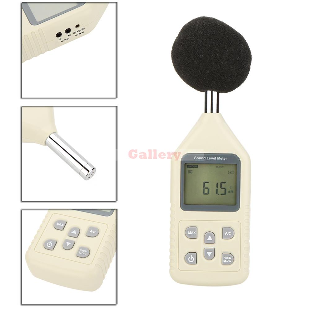 Gm1358 Lcd Digital Sound Level Meter Noise Meter Db Decibel Meter Measuring Range 30-130db  цены
