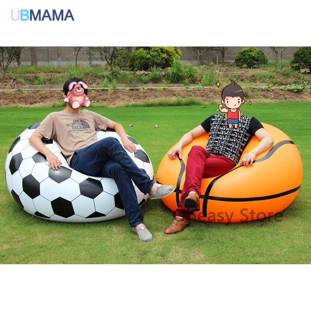 a97a36a3 110*80*40 cm gran tamaño sofá inflable de baloncesto fútbol sofá perezoso  sofá