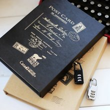 Винтажный дневник с замком записная книжка в коробке ежедневный