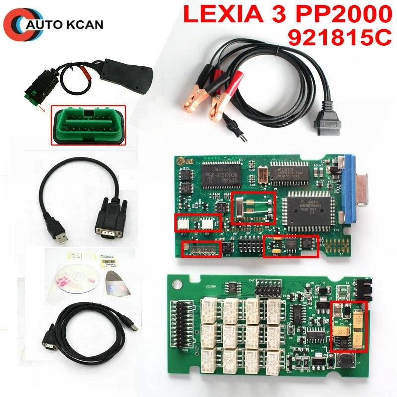 Цена за Лидер продаж Lexia3 V7.83 с 921815C прошивки Lexia 3 Lexia-3 PP2000 V48/V25 Diagbox 7.83 инструмент диагностики Бесплатная доставка