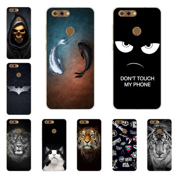 zte blade V9 case,Silicon Gossip fish Painting Soft TPU Back Cover for zte blade V9 protect Phone shell
