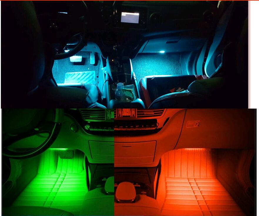 Car Atmosphere Lights Strip Led Neon Lamp For Fiat 500/panda /stilo /punto /doblo /grande /bravo 500 Ducato /minibus Accessories Novel In Design;