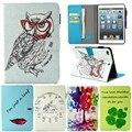 Для Apple ipad Mini 1 2 3 Tablet Case PU Флип Кожа Стенд мультфильм Животных Сова Обложка Cat для ipad Mini 2 Mini 3 Коке Fundas
