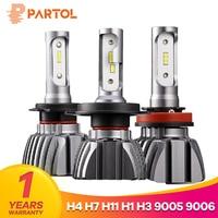 Partol NF15 H4 Hi Lo Beam Car LED Headlight Bulbs 50W 8000LM H7 H11 H1 H3