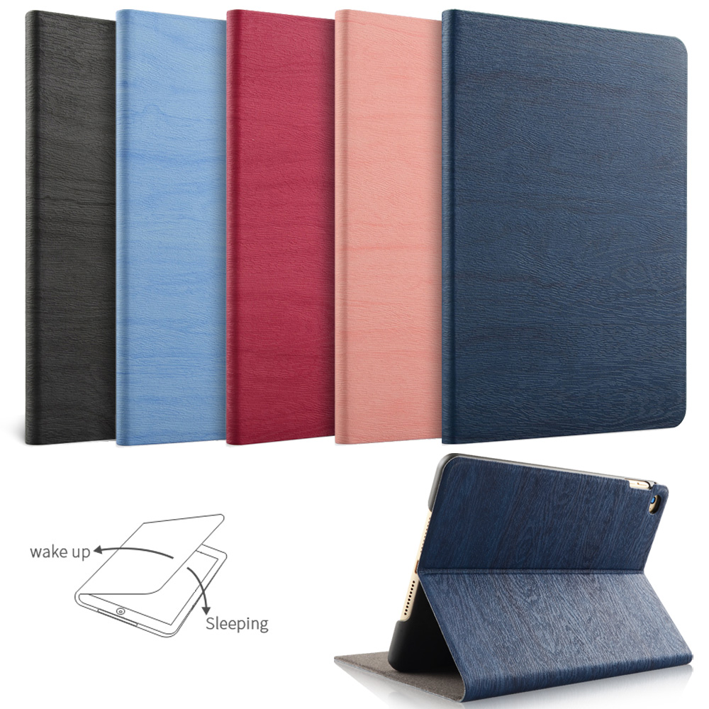 For New iPad 9.7 inch 2017 2018/ iPad Air 1 2, YWVAK Simplicity PU Leather Smart Cover Folio Case Auto Wake Cover Case