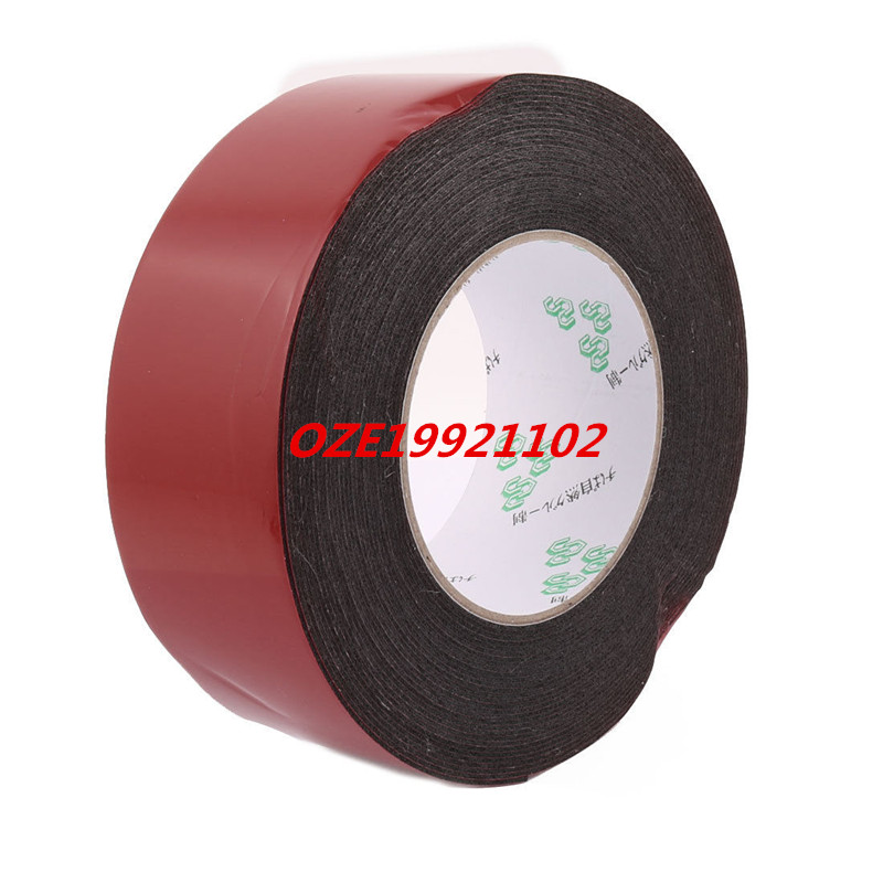 1PCS 50mmx1mm Double Sided Sponge Tape Adhesive Sticker Foam Glue Strip Sealing 10M 25mm x 1mm white double sided self adhesive sponge foam tape for car 10m length