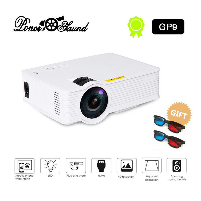 Poner Saund Full Hd New Mini Projector Proyector Led Lcd: Poner Saund LED GP9 Mini Projector Wired Sync Display Home
