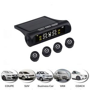 Image 2 - 4 sensors car tire pressure alarm TPMS Digital display auto tyre pressure tester leak warning tire presssure monitoring system