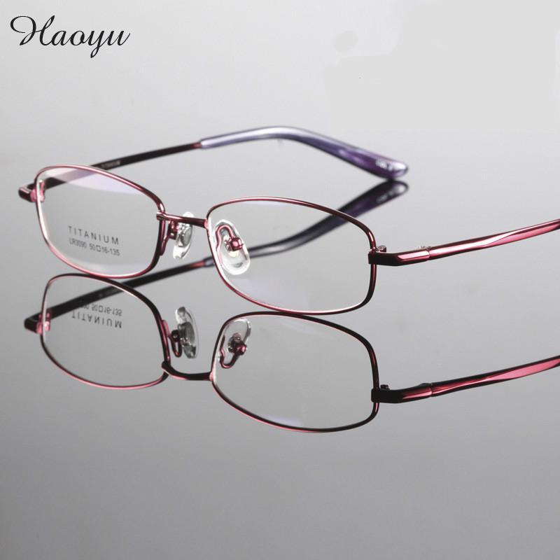 Glasses Frames 2017 Style : haoyu 2017 high quality brand women style Titanium glasses ...