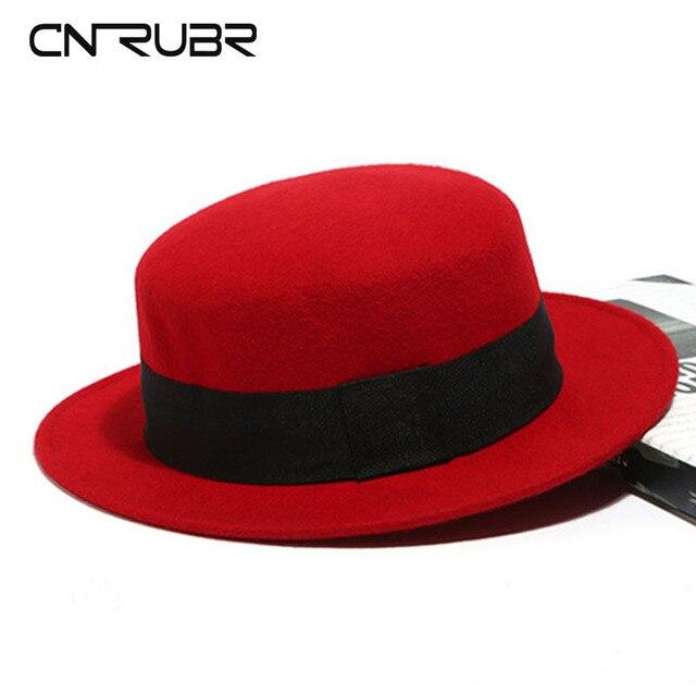 CN-RUBR Британские Ретро Плоские Шляпы Женщины Шляпа Твердые Шерсть Козырек Шапки 5 Цвета Вскользь Женские Шляпы Лук Женщины Шляпы