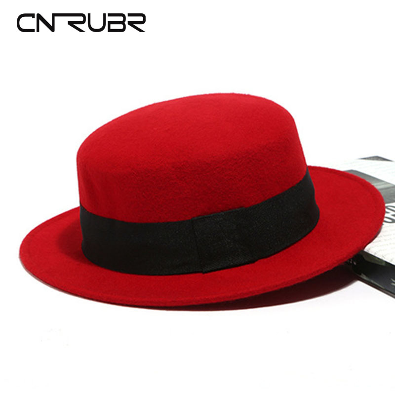 CN RUBR British Retro Flat Hat Brim Women Hat Solid Wool Visor Cap 5 Colors  Casual Ladies  Hats Bow Women Hats-in Sun Hats from Women s Clothing   ... 7776623e2da2