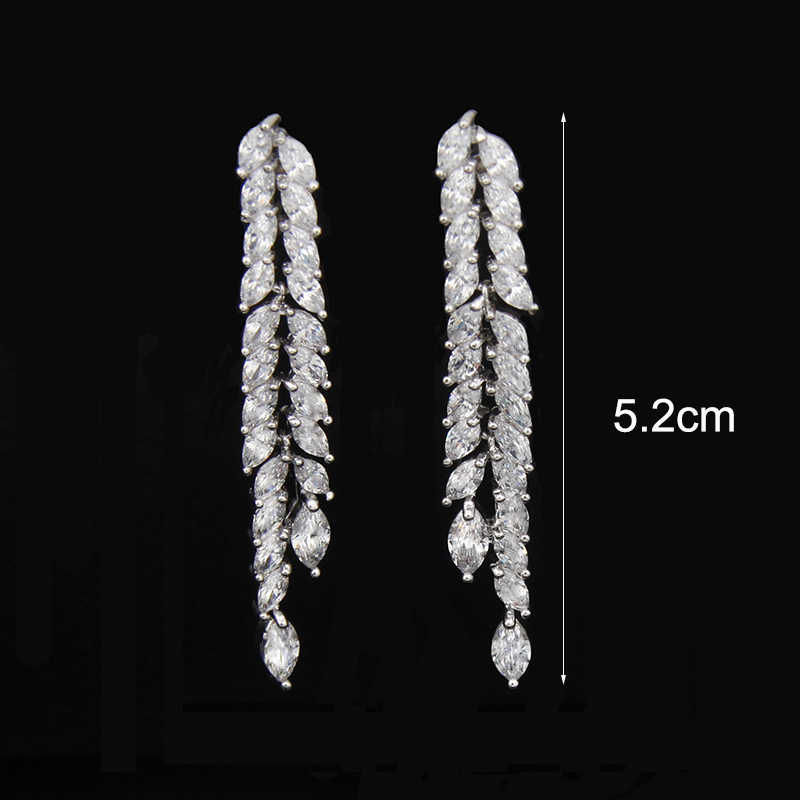 Elegant Simulated Pearl Bridal Jewelry Sets Wedding Jewelry Leaf Crystal Necklaces Earrings Sets Parure Bijoux AS064